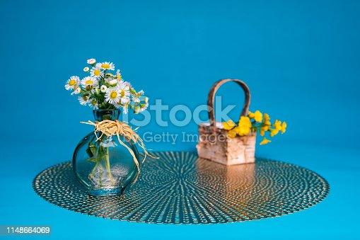 istock Prairie Fleabane Wildflowers in Small Vase 1148664069