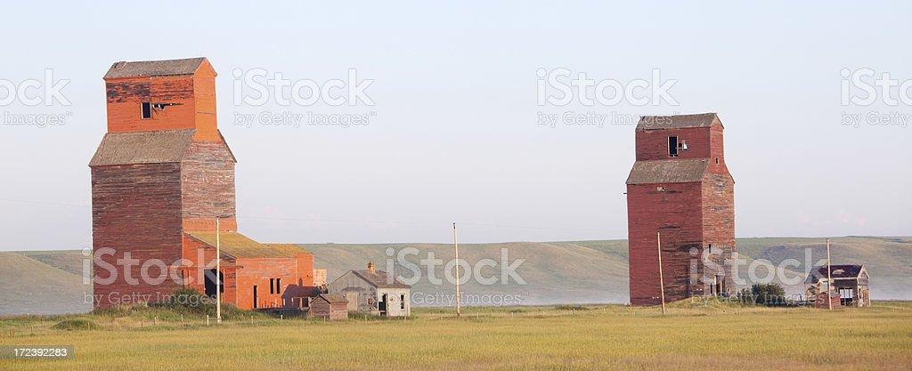 Prairie Grain Elevators royalty-free stock photo
