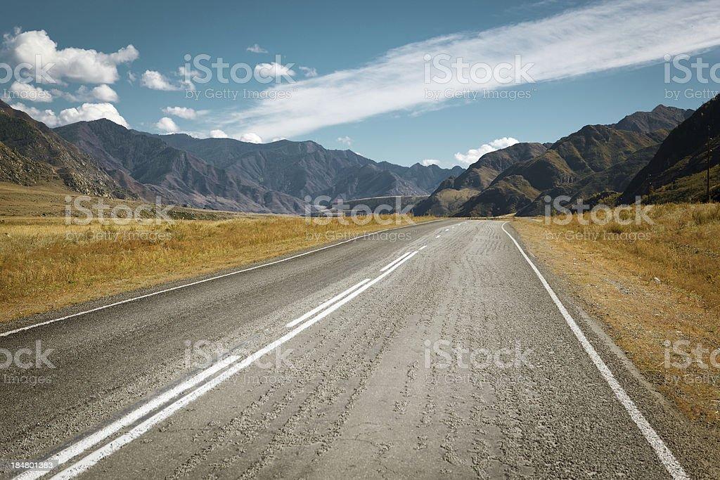 prairie highway royalty-free stock photo
