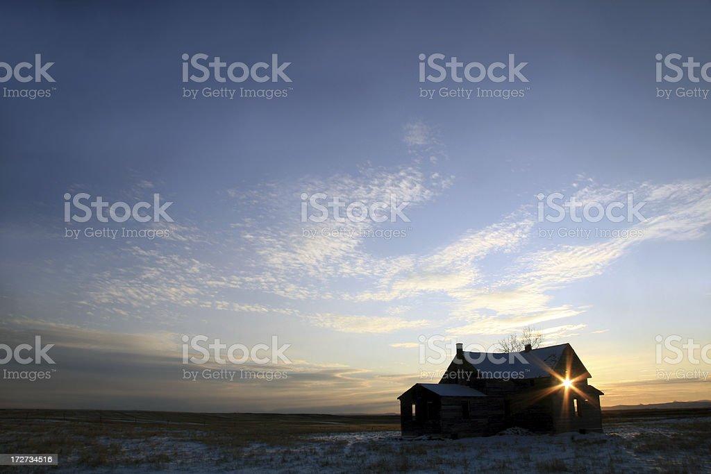 Prairie Homestead royalty-free stock photo