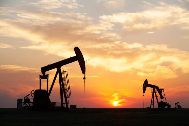 Prairie Oil Saskatchewan Canada stock photo
