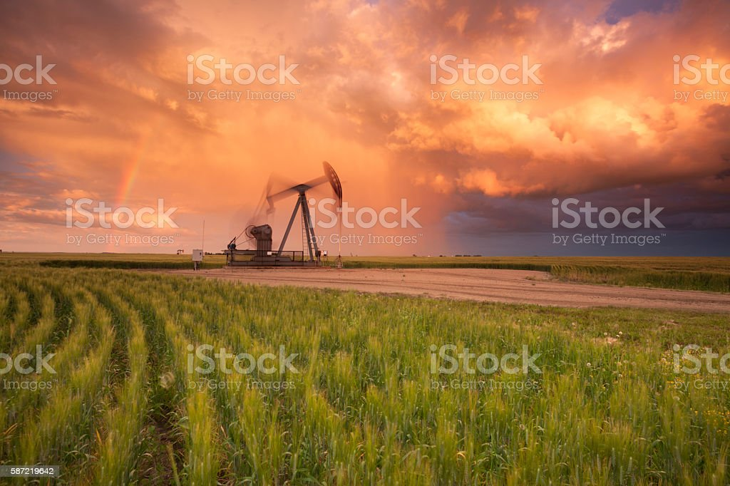 Prairie Oil Saskatchewan stock photo