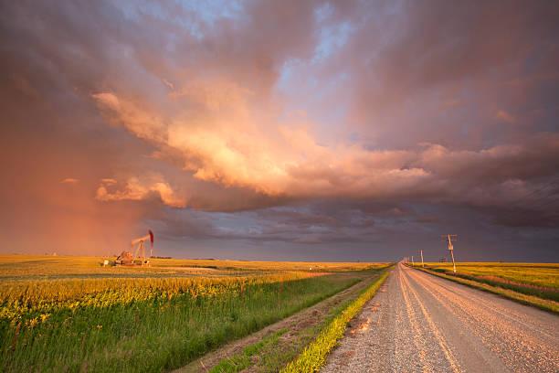 Prairie Oil Saskatchewan stock photo
