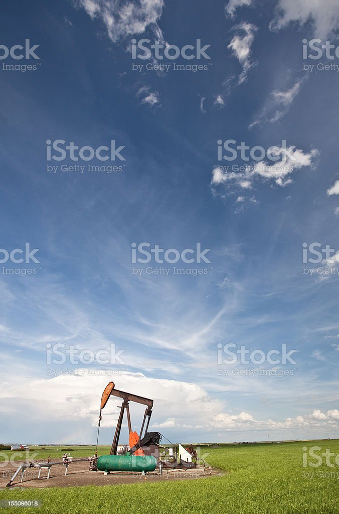 Prairie Pumpjack royalty-free stock photo