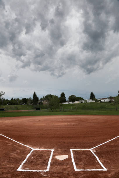 Prairie Storm Baseball Diamond stock photo
