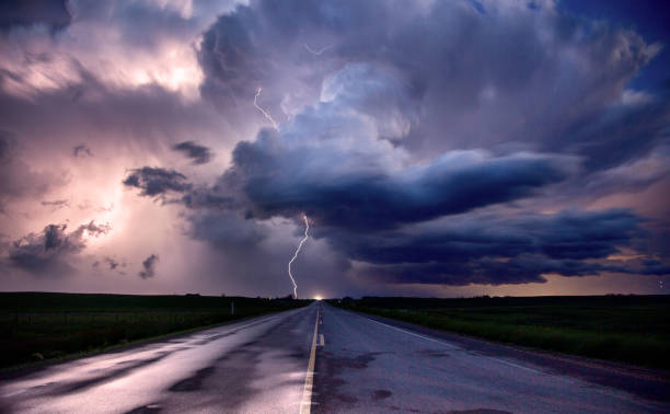 Prairie Storm Canada stock photo