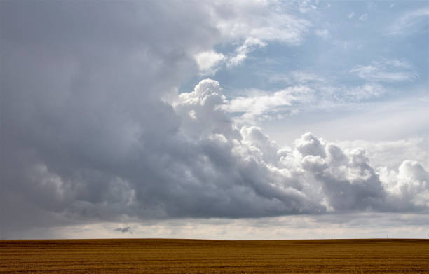 Prairie Storm Clouds Canada stock photo