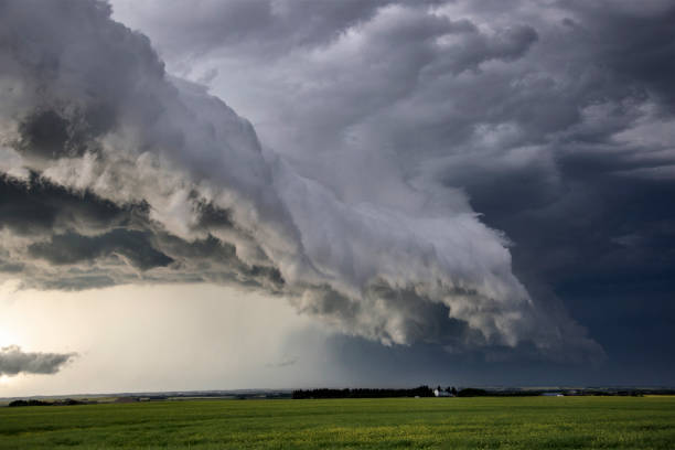 Prairie Storm Clouds Canada stock photo