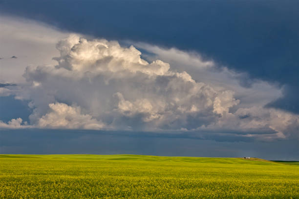 Prairie Storm Clouds stock photo