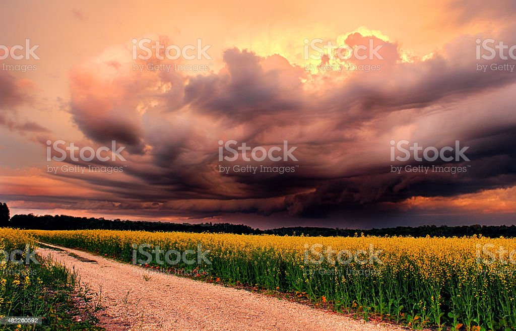 Prairie Storm stock photo