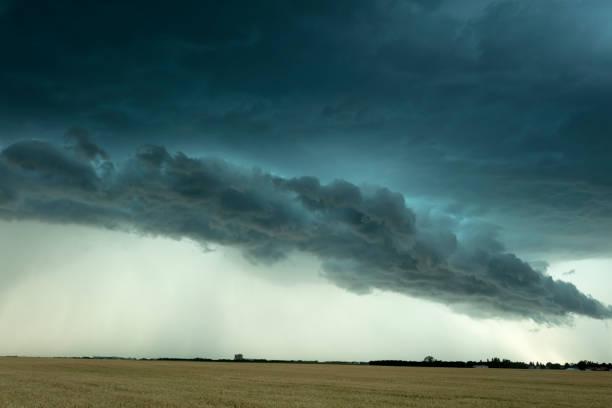 Prairie Storm Saskatchewan Canada stock photo