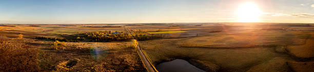 prairie sunset - great plains stock photos and pictures