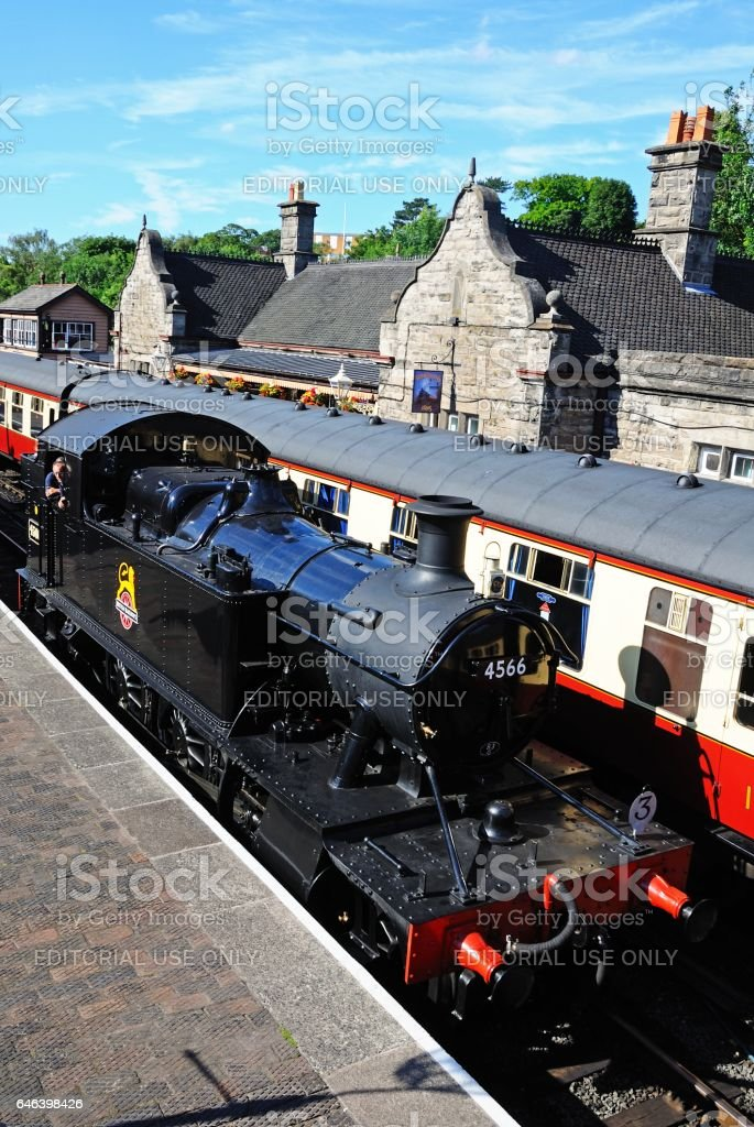 Prairie Tank Locomotive, Bridgenorth. stock photo