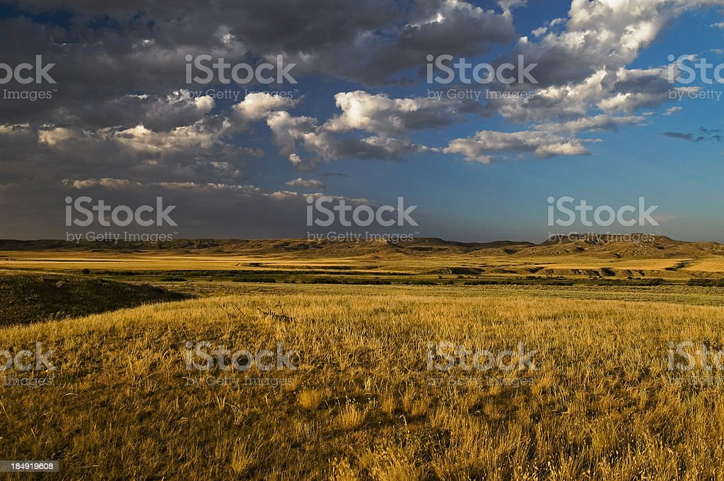 Prairie to Badlands stock photo