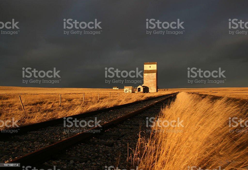 Prairie Tracks royalty-free stock photo