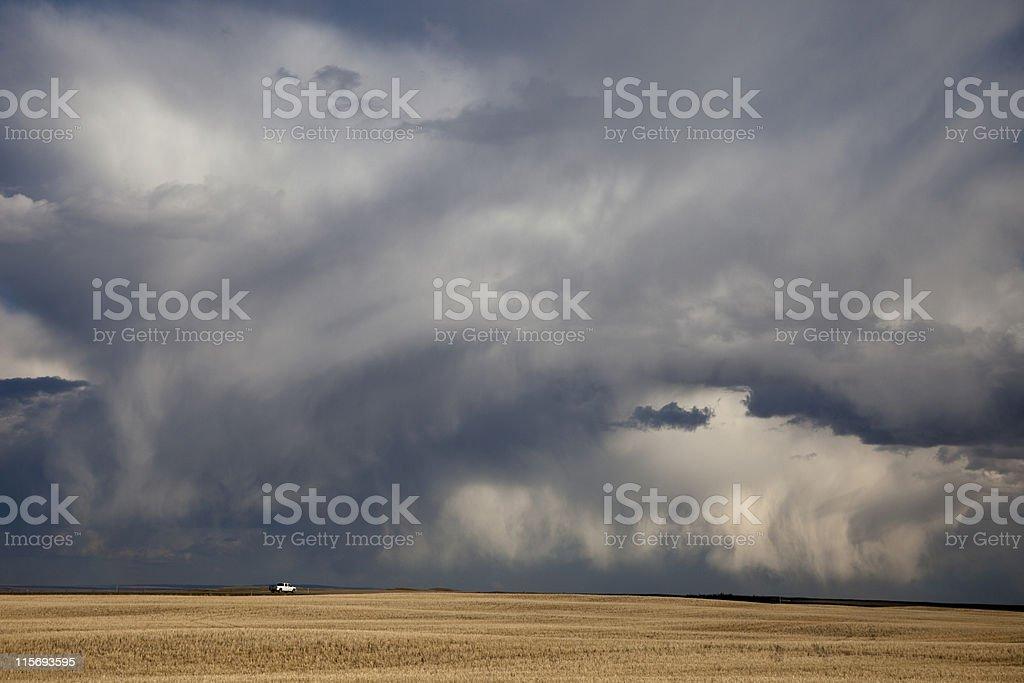 Prairies Storm royalty-free stock photo