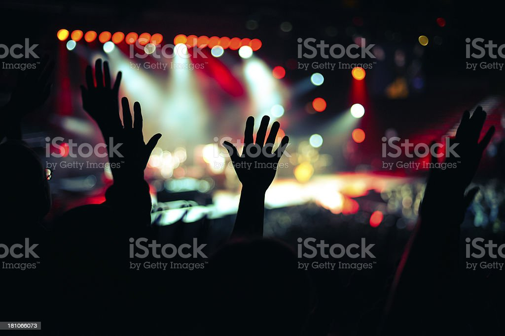 Praise and Worship Hand Up royalty-free stock photo