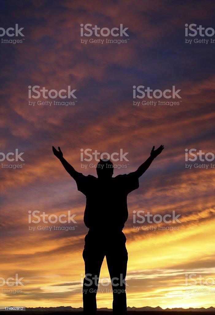 Praise and Worship royalty-free stock photo