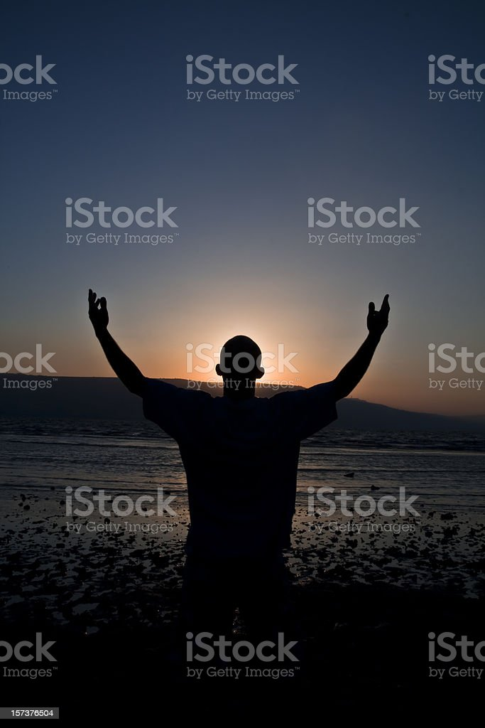 Praise at the Shore of Galilee royalty-free stock photo