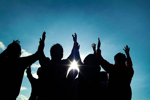 praise - praise and worship stock photos and pictures