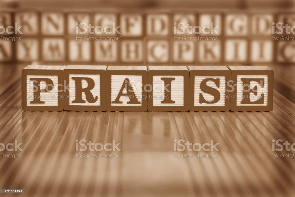 praise (#10 of series) royalty-free stock photo