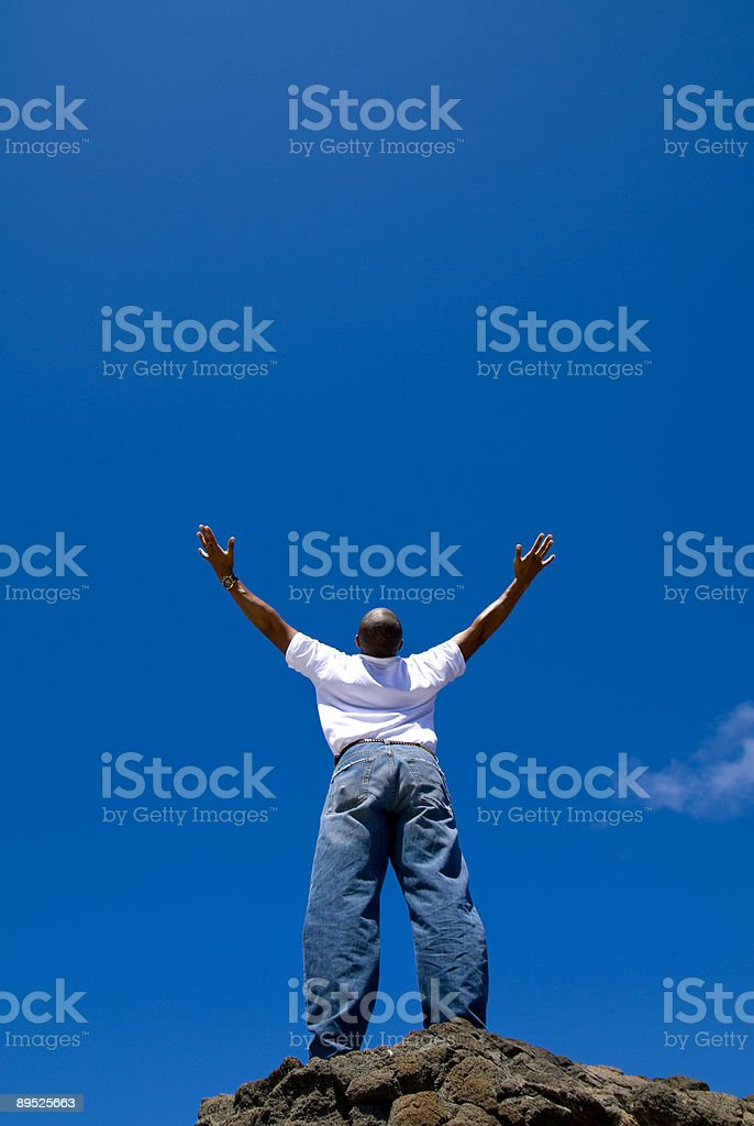 Praise royalty-free stock photo