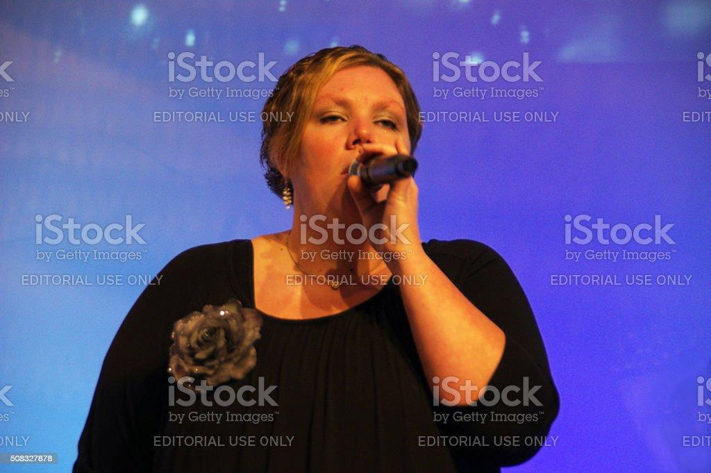 Praiseband having a concert stock photo