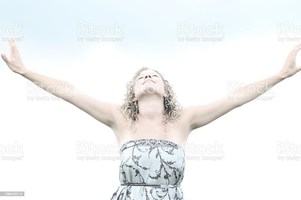 praising women royalty-free stock photo