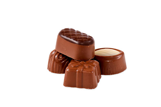 Pralines isolated stock photo