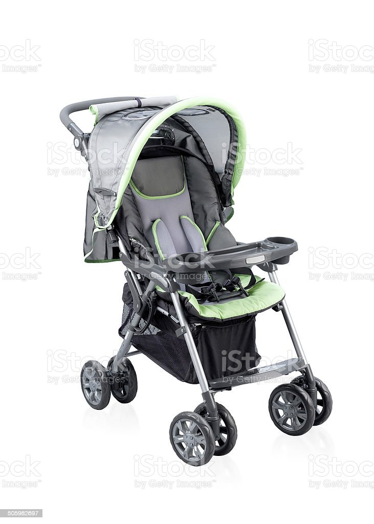 Pram carriage for young baby isolated stock photo