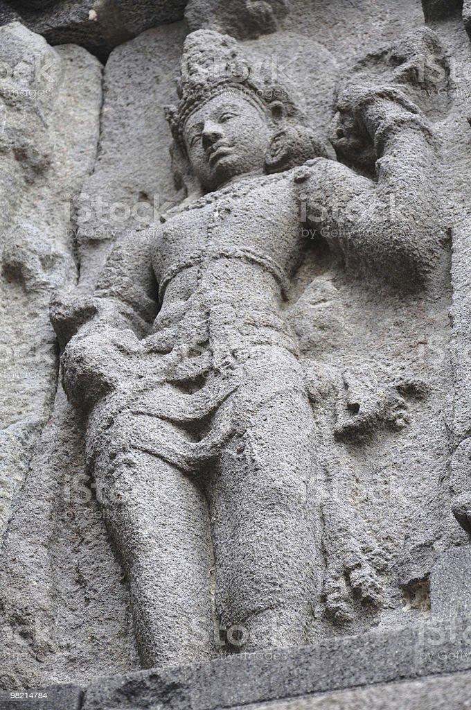 Prambanan Carving royalty-free stock photo