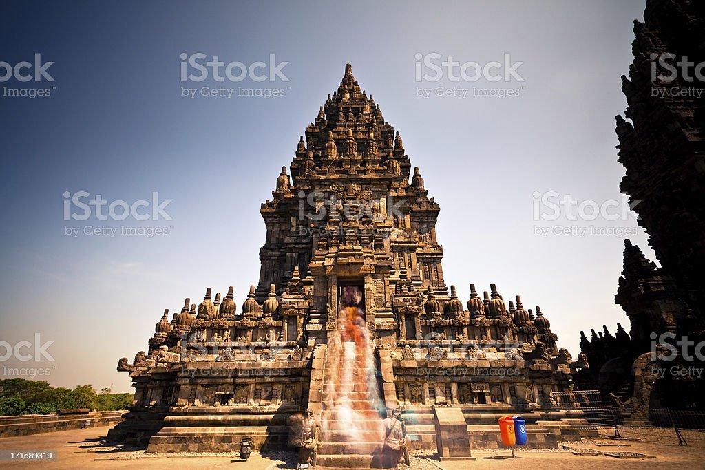 Prambanan Hindu Temple in Java, Indonesia stock photo