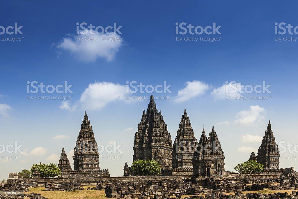 Prambanan Hindu Temple Ruins, Indonesia Landmark stock photo