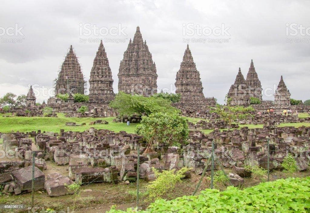 Prambanan in Java stock photo