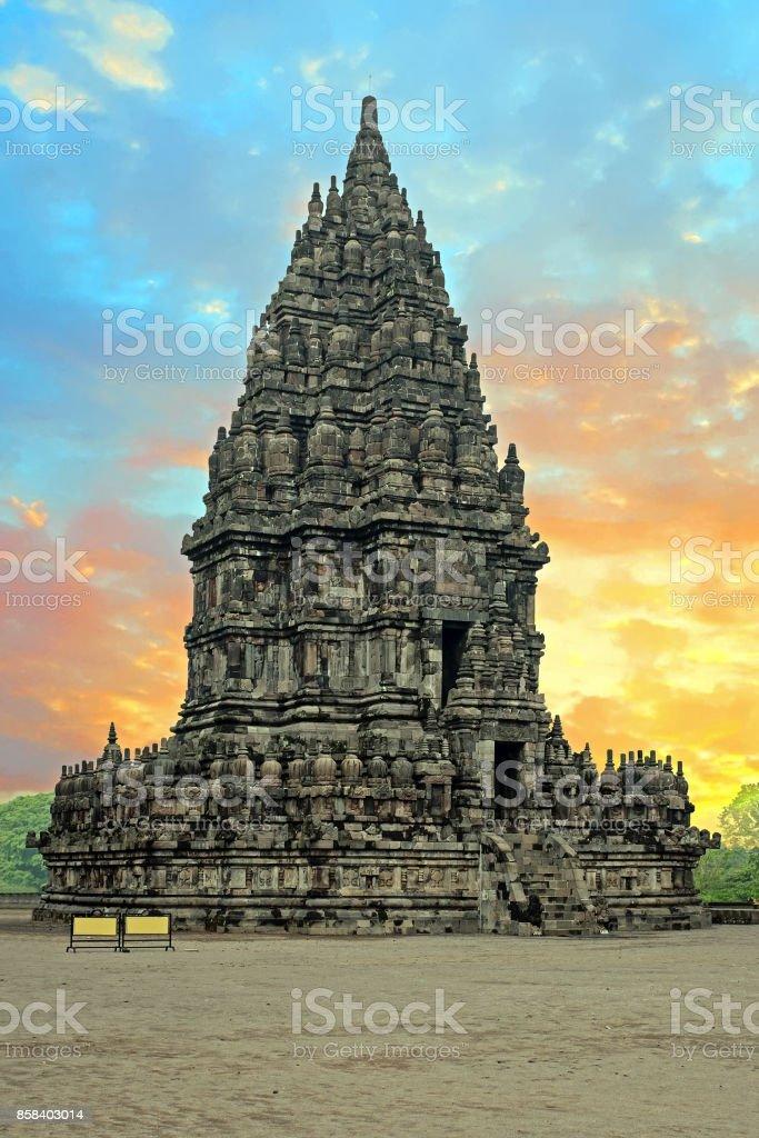 Prambanan or Candi Rara Jonggrang is a Hindu temple compound in Java, Indonesia stock photo