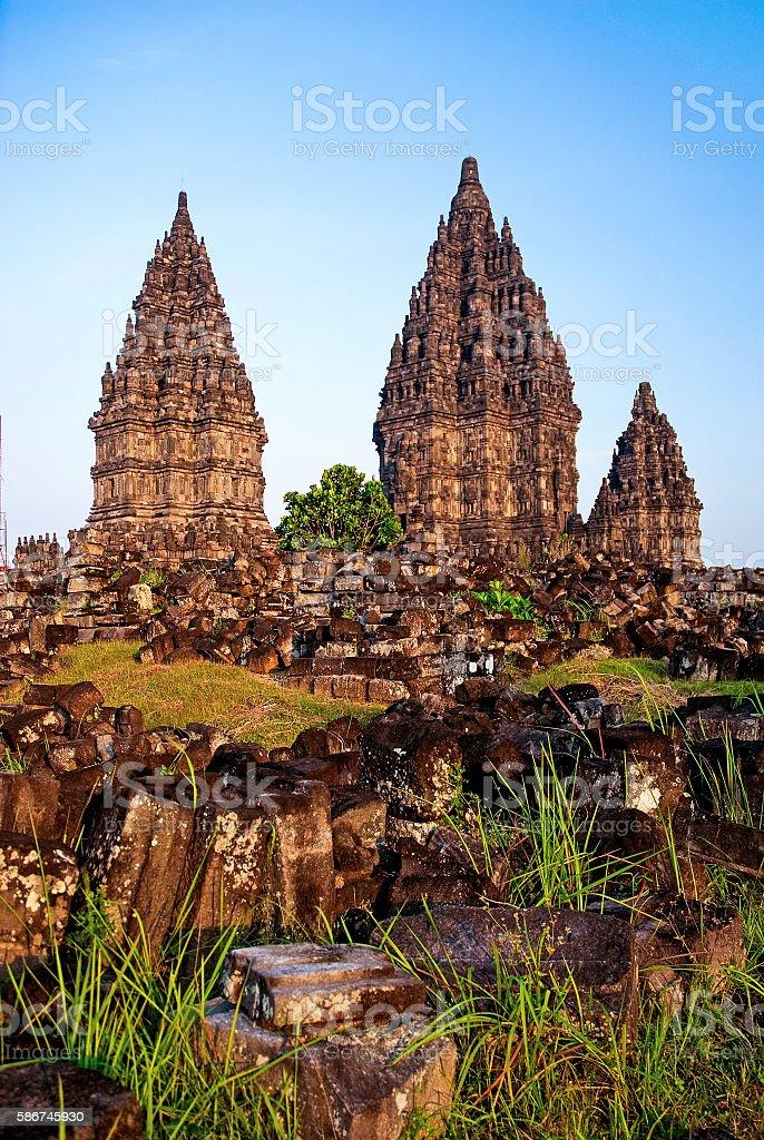 Prambanan temple in indonesia stock photo