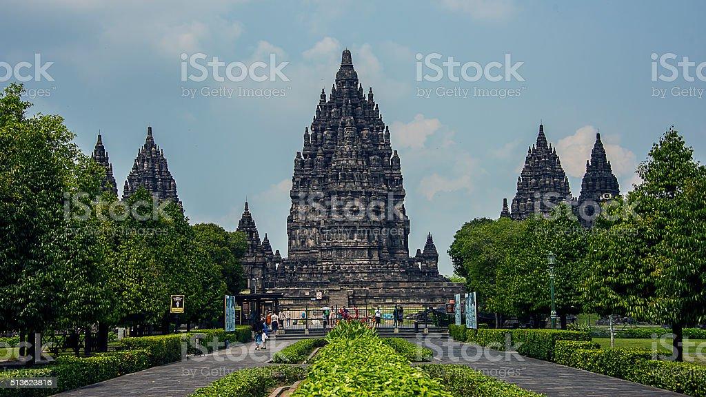 Prambanan temple in Java stock photo