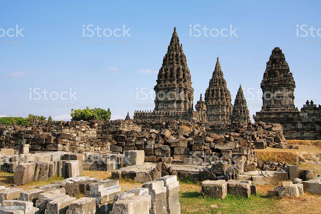 Prambanan temple in Yogyakarta stock photo