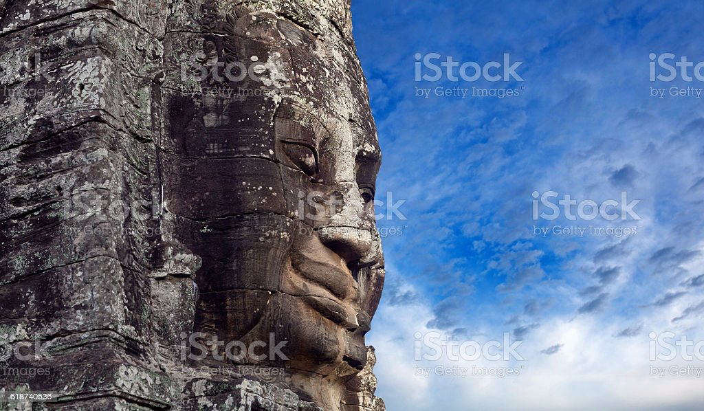 Prasat Bayon Temple in Angkor Thom, Cambodia stock photo