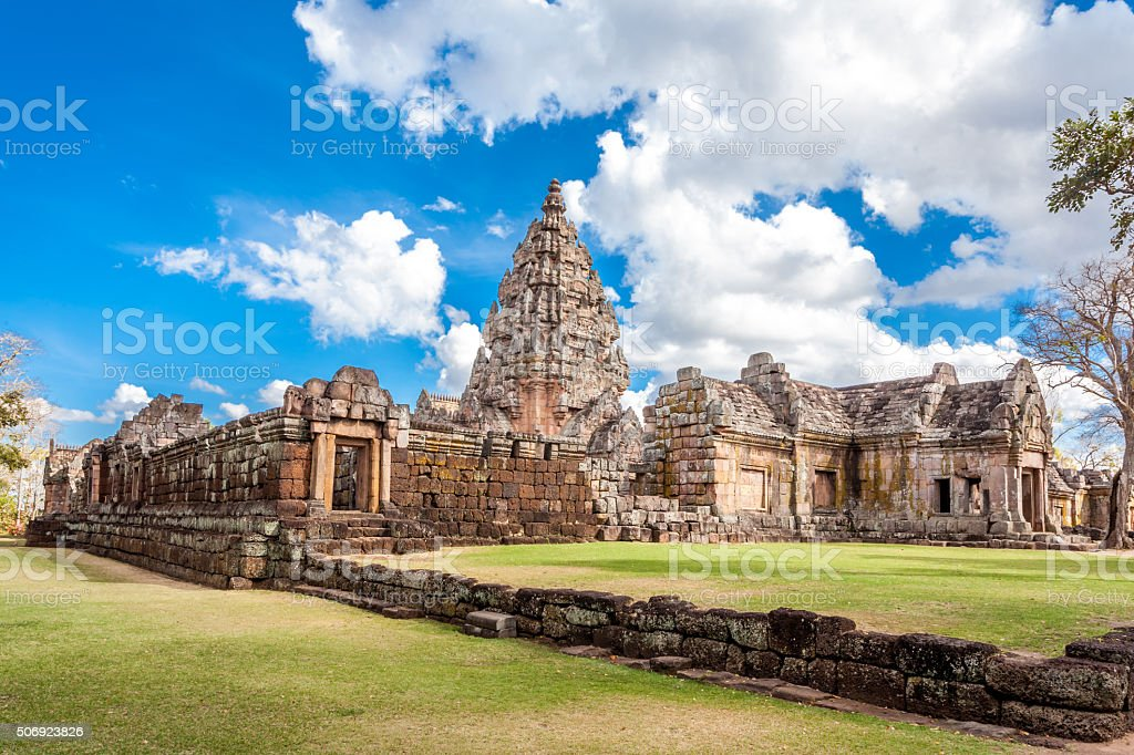 Prasat Hin  Phanom Rung Hindu religious ruin in Thailand stock photo