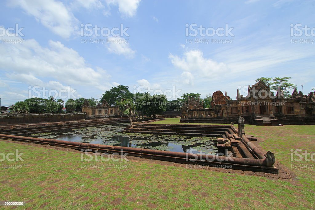prasat Muang Tam is a Khmer temple in Prakhon Chai royalty-free stock photo