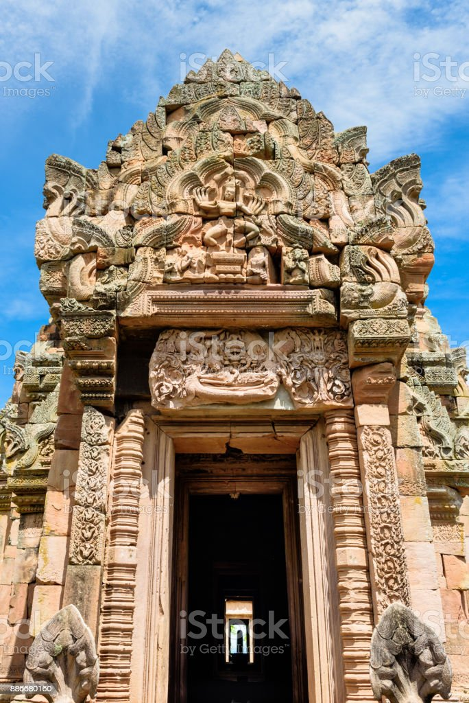 Prasat Phanom Rung, an ancient Khmer-style temple complex in Buriram Province, Thailand stock photo