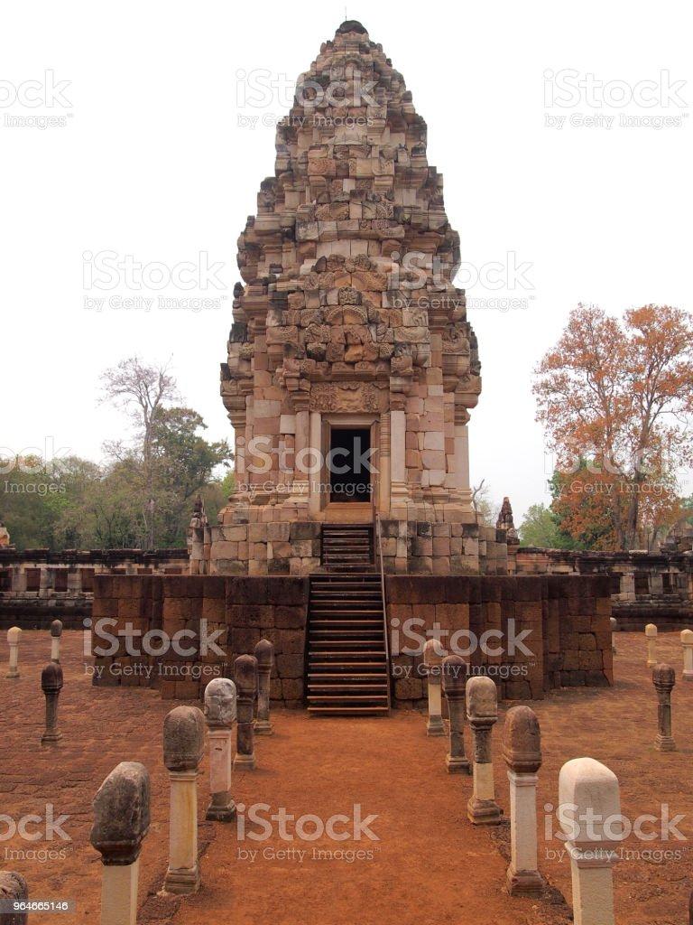 Prasat Sdok Kok Thom, Sa Kaeo, Khmer temple in Thailand royalty-free stock photo