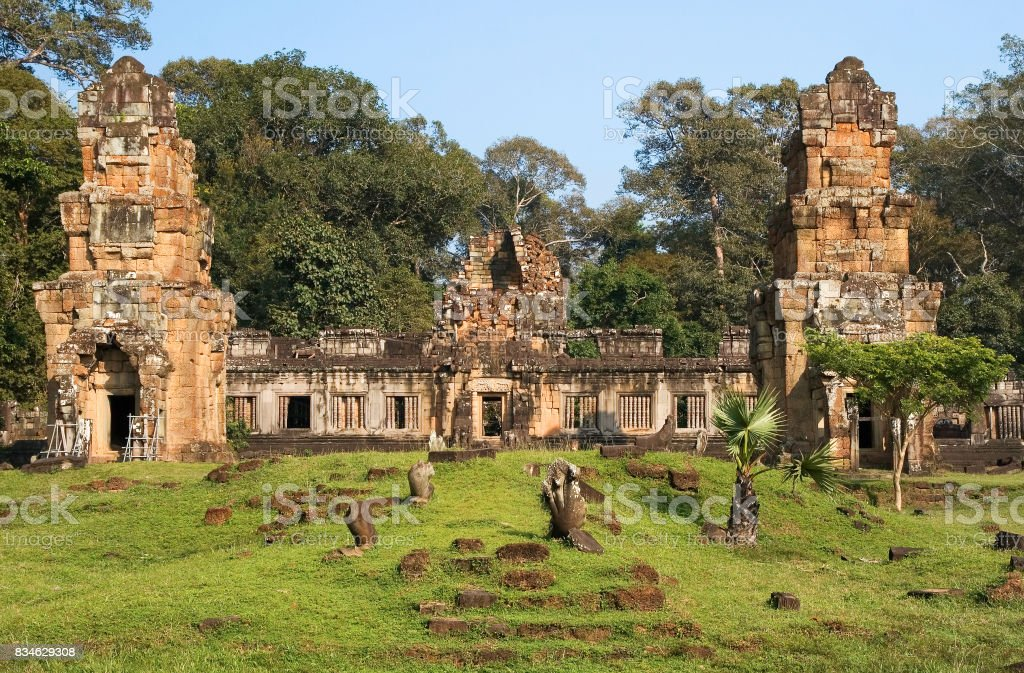 Prasat Suor Prat Temple stock photo