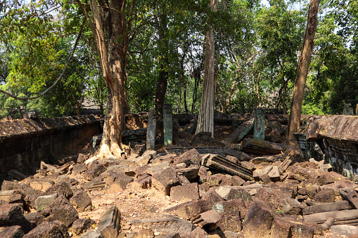 The beautiful ruins in the koh ker.