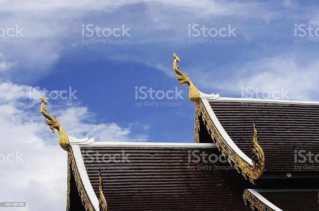 Prasing Temple in Chiangmai royalty-free stock photo