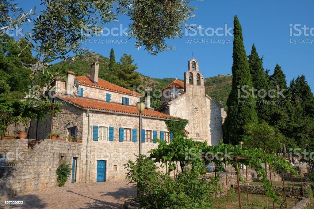 Praskvica Monastery Serbian Orthodox In Celobrdo, Montenegro stock photo