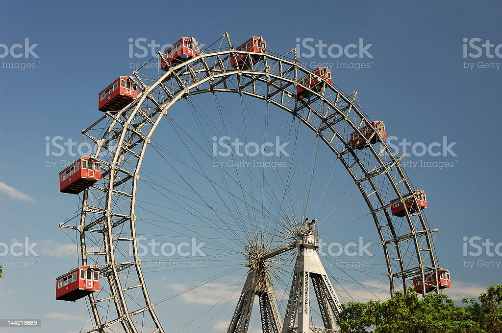Prater - giant old ferris wheel in Vienna Austria stock photo