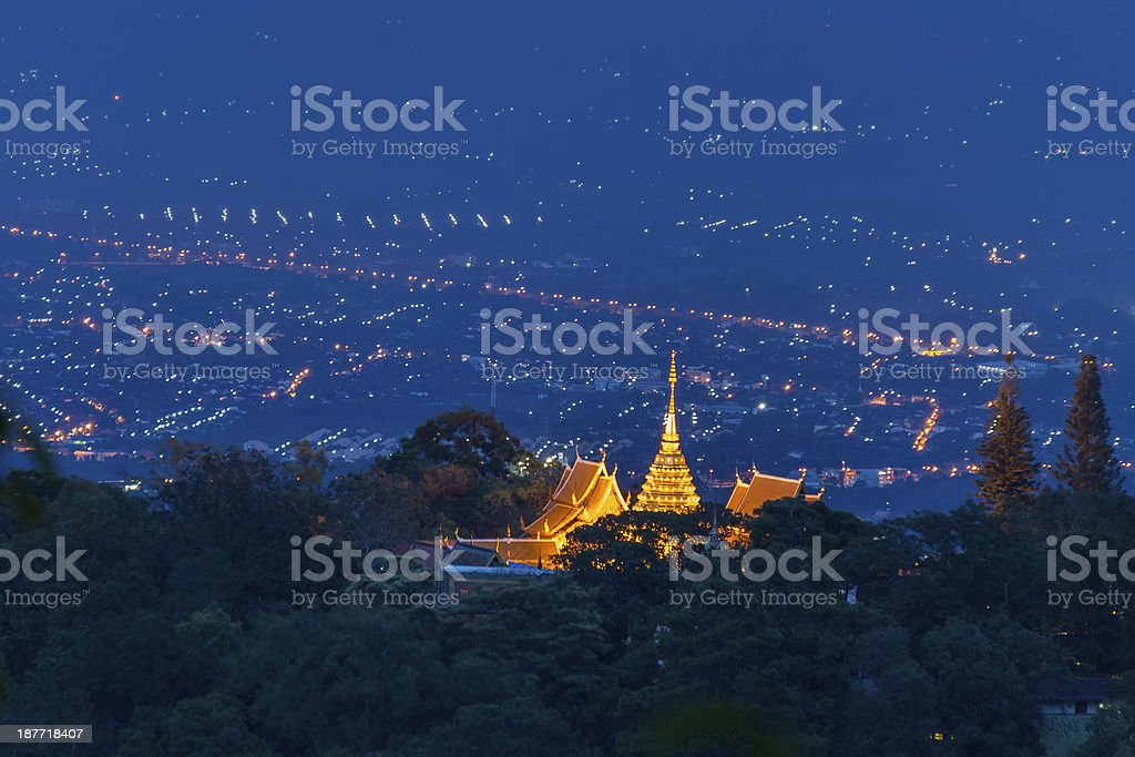 Prathat Doi Suthep Temple located in Chiang Mai , Thailand royalty-free stock photo