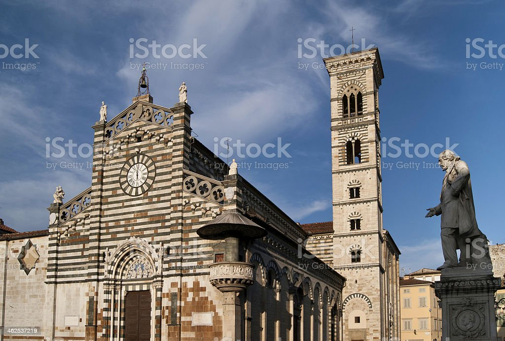 Prato Cathedral and bell tower royalty-free stock photo